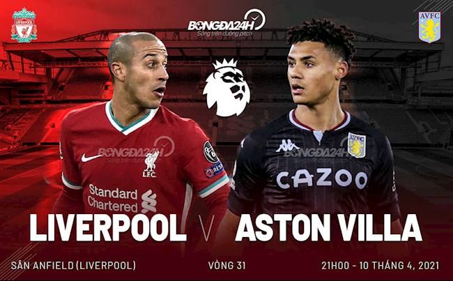 Trực tiếp bóng đá Liverpool vs Aston Villa 21h00 ngày 10/4 vòng 31 Ngoại hạng Anh 2020/21 lúc 21h00 ngày 10/4