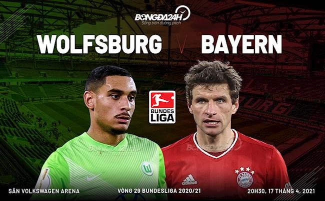 Nhan dinh bong da Wolfsburg vs Bayern Munich 20h30 ngay 17/4 (Bundesliga 2020/21)