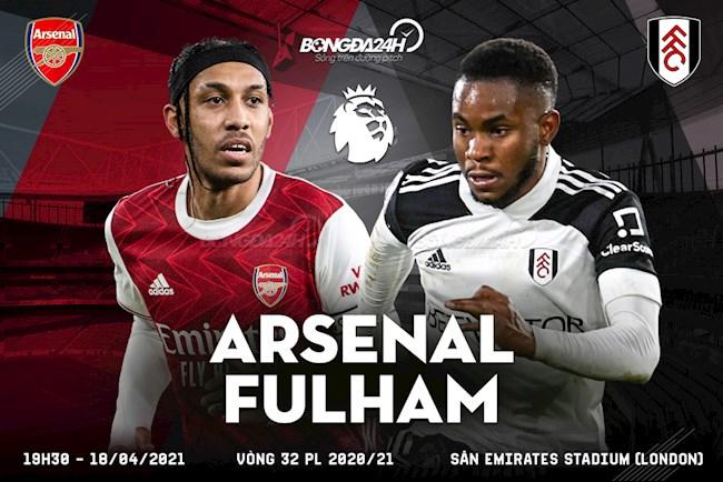 Trực tiếp bóng đá Arsenal vs Fulham trận đấu vòng 32 Ngoại hạng Anh 2020/21 lúc 19h30 ngày hôm nay 18/4