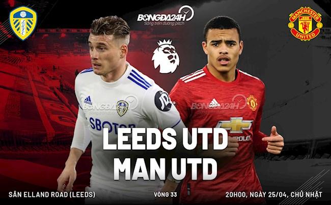 Trực tiếp bóng đá Leeds vs MU vòng 33 Ngoại hạng Anh 2020/21 lúc 20h00 ngày hôm nay 25/4