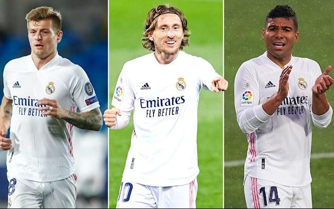 Đẳng cấp đáng sợ của bộ ba Casemiro - Modric - Kroos vs Liverpool