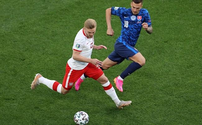 """Video Ba Lan vs Slovakia (Bảng E VCK Euro 2020): Thẻ đỏ và """"Đại bàng hóa gà con"""""""