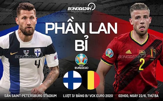 Trực tiếp Phần Lan vs Bỉ