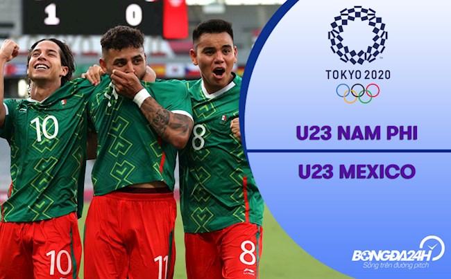 Video bóng đá Nam Phi 0-3 Mexico (Vòng bảng Bóng đá nam Olympic 2020)