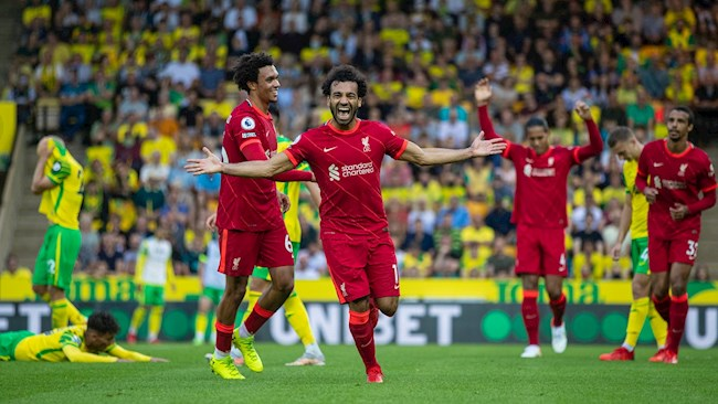 Norwich vs Liverpool result: Salah has 2 assists and 1 goal