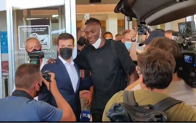 Tammy Abraham is in Italy to sign for Roma