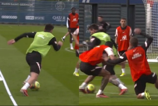 Messi makes fans crazy in the latest training session