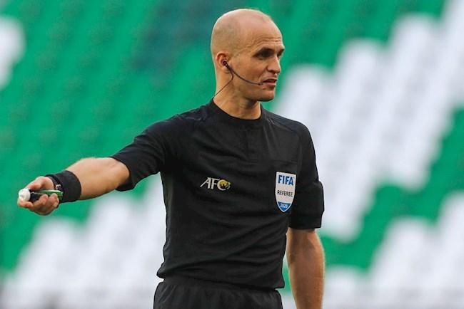 Referee Adham Makhadmeh