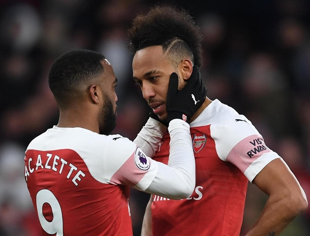 Aubameyang and Lacazette missed the match against Brentford because they were positive for Covid-19