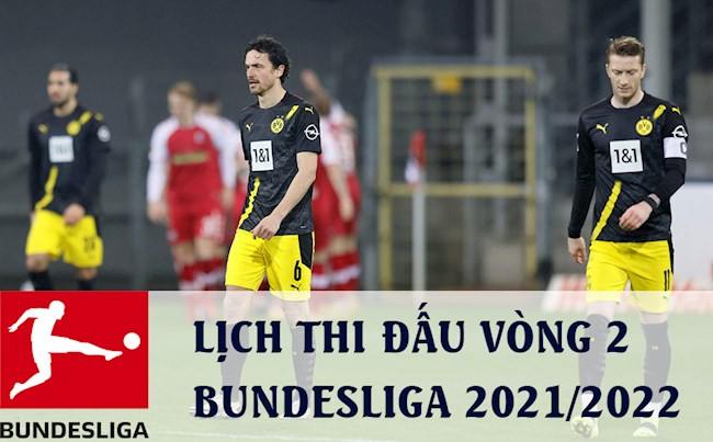 Schedule for the second round of the Bundesliga 2021/2022