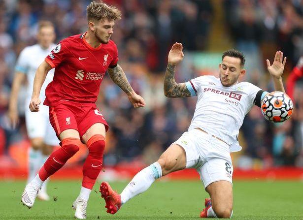 Liverpool vs Burnley Harvey Elliott