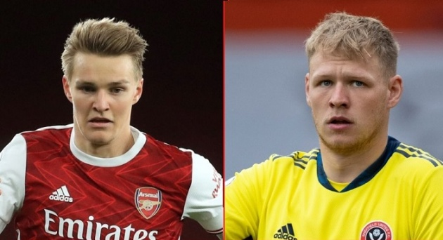 Martin Odegaard and Aaron Ramsdale are the 2 newest Arsenal rookies
