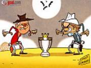 Biem hoa: Hai cao boi Alex Ferguson va Roberto Mancini chuan bi do sung