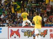 Neymar phấn khích tột độ sau cú poker vào lưới Nhật Bản