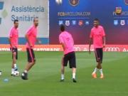 Trò giải trí với trái bóng bá đạo của dàn sao Barcelona