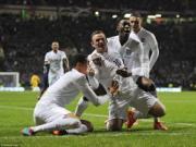 Rooney bay lên mây sau cú đúp vào lưới Scotland