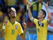 Neymar - Rodriguez: Dai chien cac vi sao