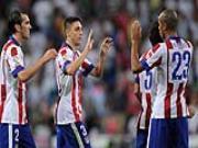 Diego Godin no tung bung sau khi Atletico da bai Real