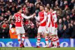 Video bàn thắng: Arsenal 5-0 Aston Villa (Vòng 23 Premier League 2014/2015)