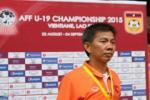 HLV U19 Việt Nam tiếc nuối các tình huống bỏ lỡ của học trò