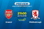 Arsenal vs Middlesbrough (21h00 ngày 22/10): Quyết giành ngôi đầu