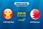 U19 Việt Nam vs U19 Bahrain (23h15 ngày 23/10): Cảnh giác với trọng tài