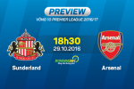 Sunderland vs Arsenal (18h30 ngay 29/10): Tham vong Phao thu den dau?