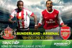 Sunderland 1-4 Arsenal (KT): Giroud va Alexis chung tay dua Phao len ngoi dau