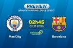 Man City vs Barca (2h45 ngay 2/11): Khi cam hung tro lai voi thay tro Pep…