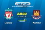 Liverpool vs West Ham (23h30 ngay 11/12): Vuot qua noi dau