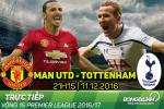 TRỰC TIẾP MU vs Tottenham 21h15 ngày 11/12: Mata và Rooney dự bị, Mkhitaryan tiếp tục đá chính