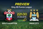 Southampton vs Man City (22h30 ngay 1/5): Premier League de sau tinh!