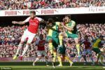 Video clip ban thang: Arsenal 1-0 Norwich (Vong 36 Premier League 2015/16)