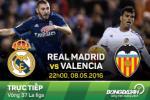 Real Madrid 3-2 Valencia (KT): Ronaldo lap cu dup, Ken ken nhoc nhan bam duoi Barca