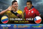 Colombia 0-2 Chile (KT): Tái ngộ Argentina ở chung kết