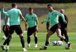 Ronaldo xu ly bong ngau hung tren san tap BDN
