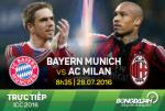 TRỰC TIẾP Bayern Munich 2-2 AC Milan (Hiệp 2): Bertolacci đưa trận đấu về vạch xuất phát