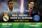 TRỰC TIẾP Real Madrid vs PSG ICC 2016 06h30 ngày 28/7