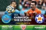 TRỰC TIẾP Khánh Hòa vs SHB Đà Nẵng 17h00 ngày 27/8 (V-League 2016)