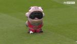 Clip bóng đá vui: Linh vật nuốt chửng tình nguyện viên
