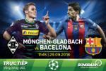 Monchengladbach 1-2 Barca (KT): Vang Messi, Blaugrana phai thang nguoc