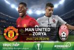 TRỰC TIẾP MU vs Zorya Luhansk 02h05 ngày 30/9 (Europa League 2016/17)