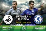 Swansea 2-2 Chelsea (KT): Diego Costa toa sang, The Blues van dut mach toan thang