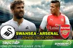 Swansea 0-4 Arsenal (KT): Man huy diet don gian