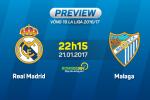 Real vs Malaga (22h15 ngày 21/1): Kền kền gặp mồi ngon