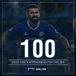 Costa dat cot moc dang nho trong mau ao Chelsea