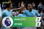 Tong hop: Man City 7-2 Stoke (Vong 8 NHA 2017/18)
