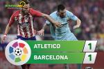 Tong hop: Atletico Madrid 1-1 Barca (Vong 8 La Liga 2017/18)
