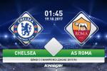 TRỰC TIẾP Chelsea vs Roma 01h45 ngày 19/10 (Champions League 2017/18)