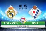 Real Madrid vs Eibar (1h45 ngày 23/10): Thắng để tạm quên